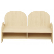 Double Seat And Storage Chair