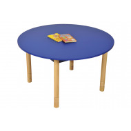 Beechwood Height Adjustable Round Table