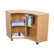 Mobile Curve Out Book Storage Unit