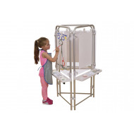 3 Sided Clear Board Easel Set