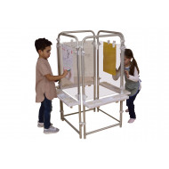 4 Sided Clear Board Easel Set