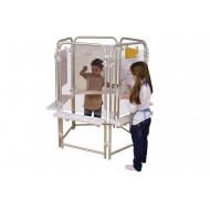 5 Sided Clear Board Easel Set