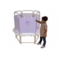 6 Sided Dry Wipe Easel Set