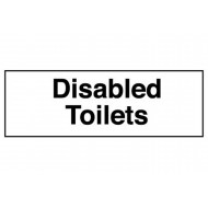 Disabled Toilets Washroom Sign (Text Only)