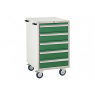 Euroslide 600 mobile 5 drawer cabinet 980h