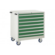 Euroslide 900 Mobile 7 Drawer Cabinet 980h