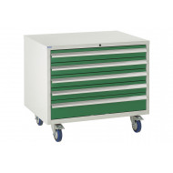 Euroslide 900 Under Bench 5 Drawer Cabinet 780h
