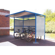 Traditional Cycle Shelter With Perforated Sides