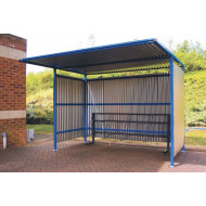 Traditional Cycle Shelter With Galvanised Sides