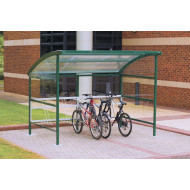 Premier Cycle Shelters With Clear Perspex Sides