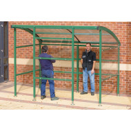 Premier Smoking Shelter With Clear Perspex Sides