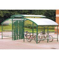 Compound Cycle Shelters With Canopy