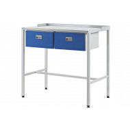 Team Leader Flat Top Workstation With Two Single Drawers