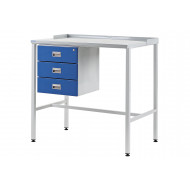 Team Leader Flat Top Workstation With Triple Drawers