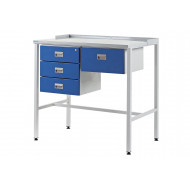 Team Leader Flat Top Workstation With Triple Drawers And Single Drawer