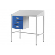 Team Leader Sloping Top Workstation With Triple Drawers