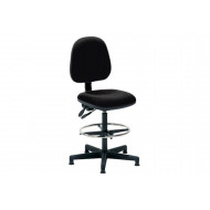 Boulder Fabric Draughtsman Chair (Charcoal)