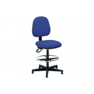 Boulder Fabric Draughtsman Chair (Blue)
