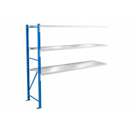 Eurospan Shelving Add On Bay With 3 Galvanized Panels