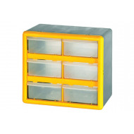 Clear Front Compartment Storage Box With 6 Large Compartments