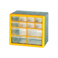 Clear Front Compartment Storage Box With 8 Small & 4 Large Compartments