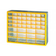 Clear Front Compartment Storage Box With 32 Small & 12 Large Compartments