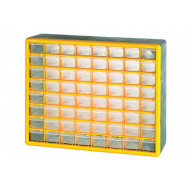 Clear Front Compartment Storage Box With 64 Small Compartments