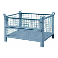 Steel Mesh Pallets With Half Drop Front