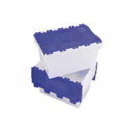 60 Litre Clear Polypropylene Distribution Container With Blue Lid