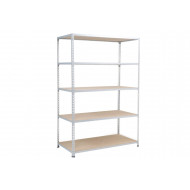 Rapid 2 Galvanised Shelving With 5 Chipboard Shelves 915wx2440h