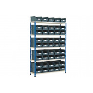 Rapid 2 Shelving Bay With 45 Picking Bins