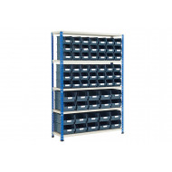 Rapid 2 Shelving Bay With 62 Picking Bins