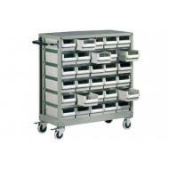 30 Drawer Mobile Small Parts Trolley