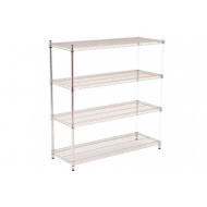 Chrome Shelving Add On Bay With 4 Shelves 1830wx1880h