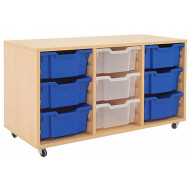 Mobile Tray Storage Unit With 9 Deep Gratnells Trays