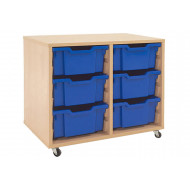 Mobile Tray Storage Unit With 6 Deep Gratnells Trays