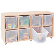 Mobile Tray Storage Unit With 8 Jumbo Gratnells Trays