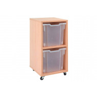 Mobile Tray Storage Unit With 2 Jumbo Gratnells Trays