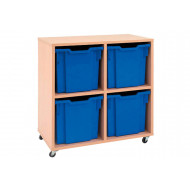 Mobile Tray Storage Unit With 4 Jumbo Gratnells Trays