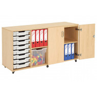 Mobile Storage Unit With 8 Shallow Gratnells Trays