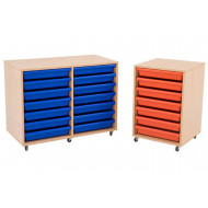 Mobile Storage Unit With A3 Gratnells Trays