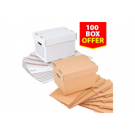 Document Storage Boxes (100 Pack)