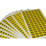 Self adhesive numbers 9.5mm high (pack of 168)