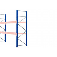 Heavy Duty Long Span Pallet Racking Frames 1100d