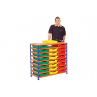 Rapid 2 Shelving Bay With 24 Shallow Gratnells Trays