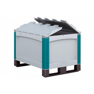 Heavy Duty Plastic Pallets With Hinged Lid
