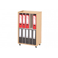 Small Lever Arch Wooden Storage Unit