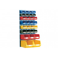 Louvre Panel Kit With 29 Bins