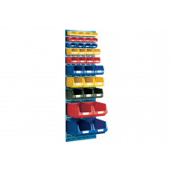 Louvre Panel Kit With 33 Bins
