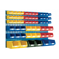 Louvre Panel Kit With 60 Bins